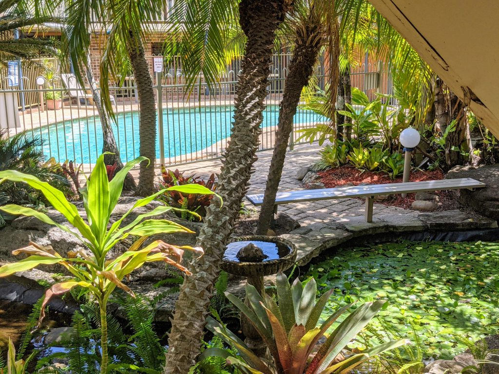 Pool view Queen room Brisbane and Gold Coast Queen room accommodation